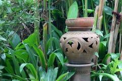 Antique earthenware jar. Stock Photo