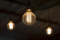 Antique Edison Style Light Bulbs Stock Photography