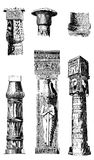 Antique Egypt - architectural details, engraving middle '800 Royalty Free Stock Photos