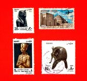 Antique egypt; old stamps Royalty Free Stock Image