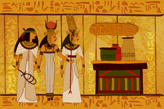 Antique Egyptian papyrus and hieroglyph background. Easy to edit vector illustration of antique Egyptian papyrus and hieroglyph background Royalty Free Stock Photography