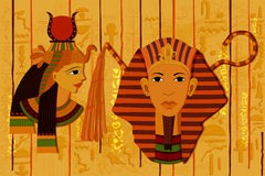 Antique Egyptian papyrus and hieroglyph background. Easy to edit vector illustration of antique Egyptian papyrus and hieroglyph background Stock Photography