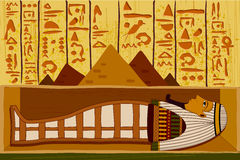 Antique Egyptian papyrus and hieroglyph background. Easy to edit vector illustration of antique Egyptian papyrus and hieroglyph background Stock Photos