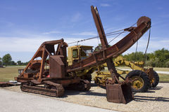 Antique Electric Coal Mining Shovel Stock Image