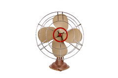 Antique Electric Fan. Image of a vintage electric fan, on white background stock photos