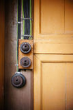 Antique electrical outlet Royalty Free Stock Photography