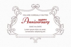 An antique elegant frame for celebrating the anniversary  Stock Photo