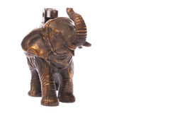 Antique Elephant Brass Lighter Stock Photo
