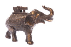 Antique Elephant Brass Lighter Stock Images