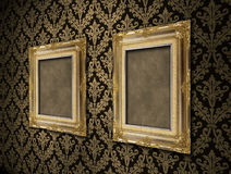 Antique empty frames Stock Photography