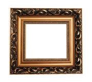 Antique empty picture frame Stock Photos