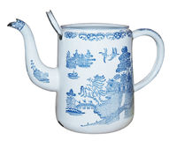 Antique Enamel Jug Royalty Free Stock Images