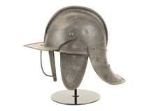 Antique English Civil War Period Lobstertail Helmet Royalty Free Stock Photos