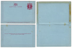 19th century English letter card set Stock Photography