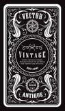 Antique engraving vintage frame border western label retro hand Royalty Free Stock Photo