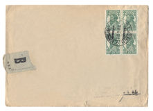 Antique Envelope from Russia Royalty Free Stock Photo