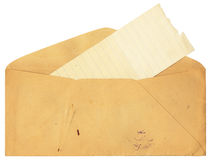 Antique envelope with stains Stock Images