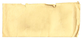 Antique envelope with stains Stock Photos