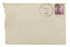 Antique Envelope & Stamp Stock Photography