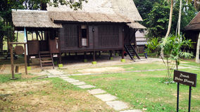 Antique Ethnic Malay Pulau Pinang house. A photograph showing the exterior details of a traditional wooden ethnic malay pulau pinang house Royalty Free Stock Photography
