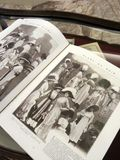 Antique European  fashion book. Old book for woman dressing in the old day.  Use as reference in learning Stock Photo