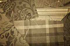 Antique Fabric Samples Royalty Free Stock Photography