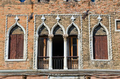 Antique facade of an old building, Venice Royalty Free Stock Photos