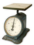 Antique Family Scale. With cracked marble top Royalty Free Stock Image