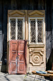 Antique fancy doors Stock Images