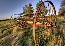 Antique Farm Equipment stock images