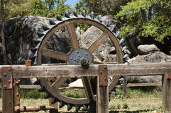 Antique farm equipment royalty free stock photography