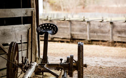 Antique farm machinery Stock Images