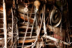 Antique farm tools Stock Photography