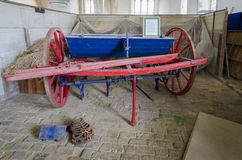 Antique Farming Equipment - seed drill Stock Image