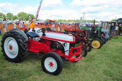 Antique farming tractors at the International Goat days festival, Millington, TN. Stock Image
