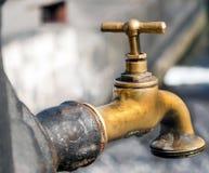 Antique faucet Stock Photography