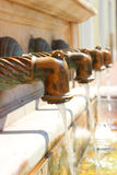 Antique faucets Stock Image