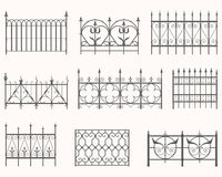 Antique fences - first set Royalty Free Stock Image