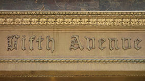 Antique Fifth Avenue Sign Stock Images
