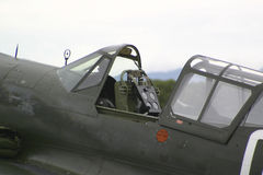 Antique fighter aircraft Stock Image