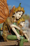 Antique Figurine. Old figurine fairy. An Imaginative story Royalty Free Stock Image