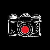 Antique film camera. Vector illustration Royalty Free Stock Images