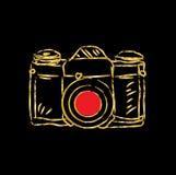 Antique film camera. Vector illustration Stock Image