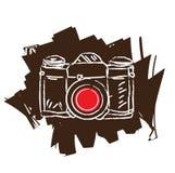 Antique film camera. Vector illustration Stock Photo