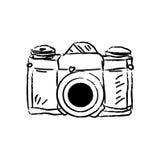 Antique film camera. Vector illustration Stock Photos