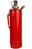 Antique fire extinguisher isolated on white Stock Photos