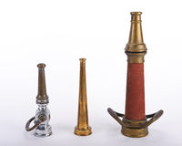 Antique fire nozzles Royalty Free Stock Photos