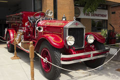 Antique fire truck at Charlottetown Fire Department Stock Photo