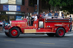 Antique fire truck in the  73th Annual Nisei Week Grand Parade Stock Images