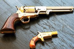 Antique Firearms. Firearms from mid 1800s era Royalty Free Stock Photography
